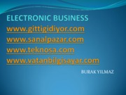 Burak YILMAZ- Electronic Business Presentation(PDF Version)
