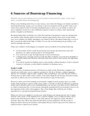 6 Sources of Bootstrap Financing.docx