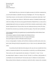 asl deaf culture report paper asl brianna reynolds  3 pages asl deaf culture report paper 1 asl 101