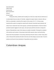 Colombia Food Essay