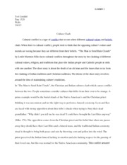 essay on culture clash Share this entry share on facebook share on twitter share on google+ share on pinterest share on linkedin conclusion for voting essay september 11 reflection essay assignment the way.