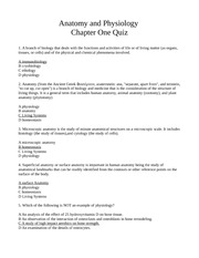 Chapter One Quiz