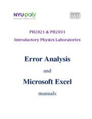 Error Analysis+Excel