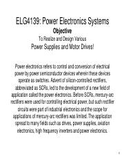 ELG4139L1PE - Power Electronic Systems Power electronics