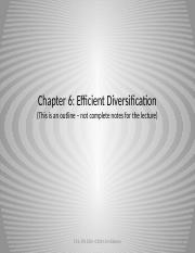 FIN 3504 Chapter 6 Diversification-Gil