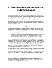 Chain reactions nuclear reactors and atomic bombs