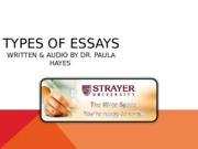Types of Essays PowerPoint(3)