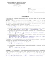Midterm Version 2 Solutions