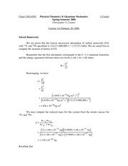 Lecture 14 on Quantum Mechanics