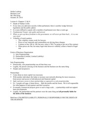 Business Law- Lecture Notes (2nd Part)