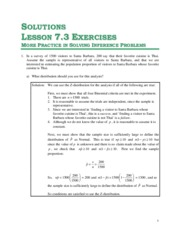 Solutions for Unit 7 - Lesson 7.3