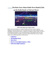 The Basic Facts About Radio Wave Bands