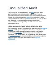 Unqualified Audit.docx