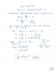 MAT 1341 Inverse Implicit Differentiation Notes