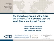 The Underlying Causes of the Crises and Upheavals in the Middle East and North Africa, An Analytic S