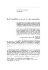 Real Rigidities and the New Keynesian Model