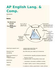 Class notes - rhetorical triangle