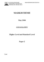 Geography_May_06_GeographySLPaper2MarkschemeMay06