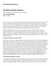 Week 5 - The Rise and Fall of Enron (JofA).pdf