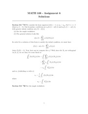 MATH 338 Assignment 6 Solutions