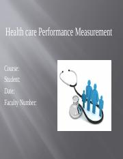 Health care Performance Measurement.pptx