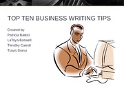 A-TEAM TOP 10 TIPS FOR BUSINESS WRITING REVISED