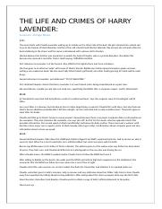 Harry Lavender Homework