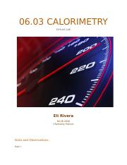 06.03 Calorimetry Honors