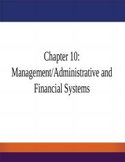 Chapter 10 - Applications - ManagementAdministrative and Financial Systems-final