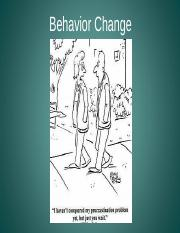 HPR Lecture 3 (Behavior:change)