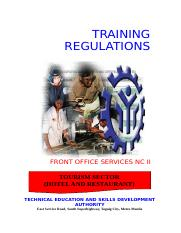 TR Front Office Services NC II.doc