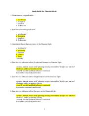 Study Guide for Classical Music.doc