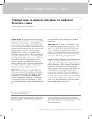 Concept maps in medical education