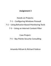 Assignment 3 - Hands on and Case Study