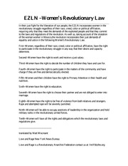 EZLN - Women's Revolutionary Law Course Notes