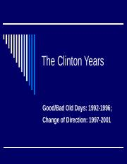 The_Clinton_Years.ppt