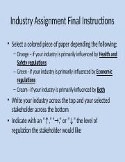 Class Session 8 - Industry Assignment Instructions