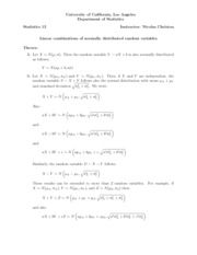 19. Linear combinations of normal random variables