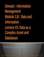 Module 1B_Data and Information_Lecture 3