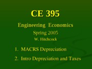 Lecture 11 - Depreciation and Taxes