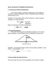 Continuous Probability Distributions.doc