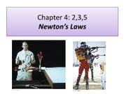 Lecture 11 - Newton's Laws