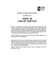BUS015_2014_TOPIC 10_Torts01