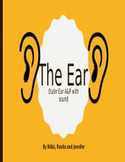 The Ear - Outer Ear A&P with sound.pptx