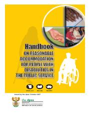 Handbook on Reasonable Accommodation for People with Disabilities in the Public Service