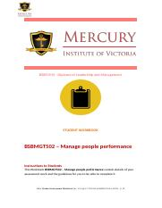 4.BSBMGT502 Manage people performance Student workbook.docx