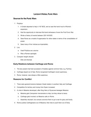Lecture 6 Notes, Punic Wars