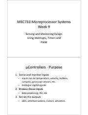 MEC733 week9 Interrupts Timers.pdf