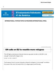 UN Calls on EU to Resettle More Refugees _ Al Jazeera America.pdf