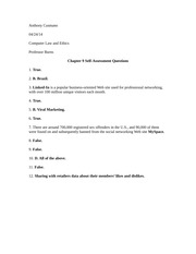 Computer L and E Chapter 9 Self-Assessment
